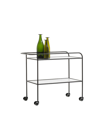 Steel Pipe Drink Trolley (1968) White Thick Laminate
