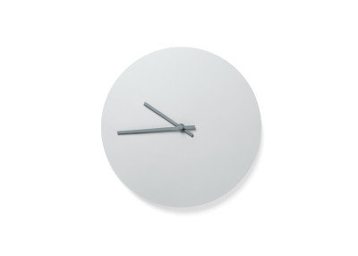 Steel Wall Clock Light Grey