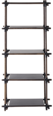 Stick System Shelving, 1x5 Grey