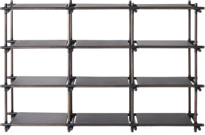 Stick System Shelving, 3x4 Black