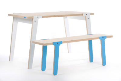 Switch Bench 07 - Iris Blue with Switch Table
