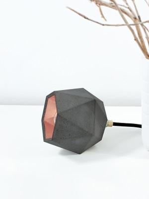 [T2] Up Floor Light Triangle Dark Grey Concrete, Copper Plating