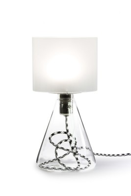 "Table Lamp - ""Lampe 03"" Blue textile cord"