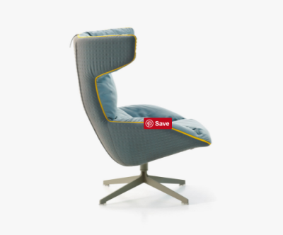 Take a Line For a Walk Swivel Armchair For Quilt by Moroso
