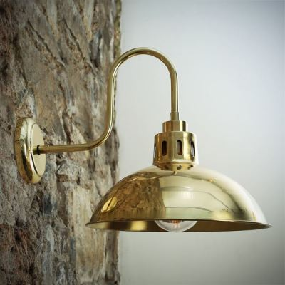 Talise Swan Neck Wall Light Polished Brass