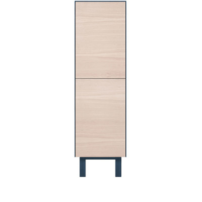 Tallboy 2 Doors Oak, Petrol Blue