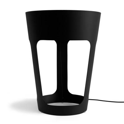 Taper LED table lamp Black