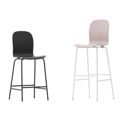 Tate Color Stool With High Backrest black/jet black, Low