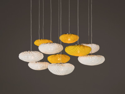 Tati TA04-10 Chandelier White/Orange, No, Transparent Cable