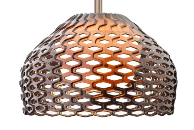 Tatou S Pendant Light S2, Ochre-grey, Large