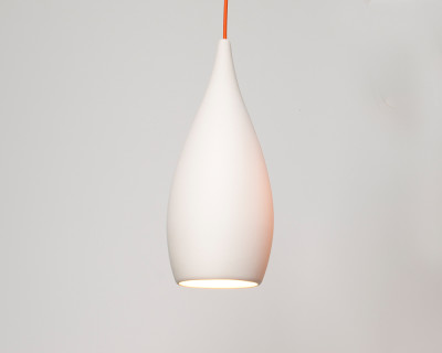 Tear Drop pendant White interior