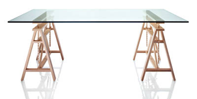 Teatro Adjustable Table - The Wild Bunch Tempered Glass Top