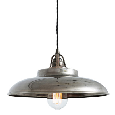 Telal Minimalist Factory Pendant Light Antique Silver