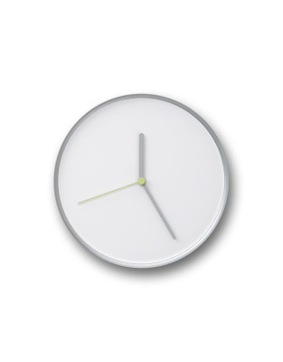 THIN | Wall Clock White & Silver