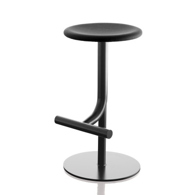 Tibu Swivel Barstool Black