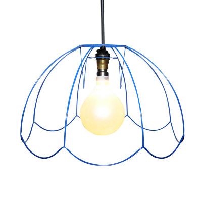 """Tiffany Skeleton Lampshade 14"""", Blue"""