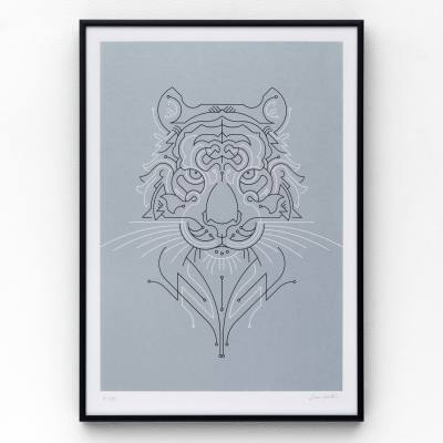 Tiger A3 limited edition screen print