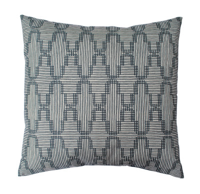 Tile Square Cushion Dark Blue