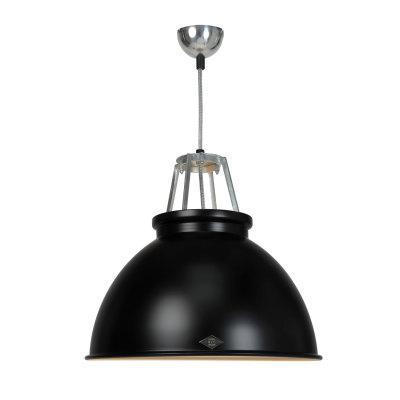 Titan Size 3 Pendant Light Black with Bronze Interior