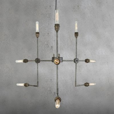 Toluca Contemporary Chandelier Satin Brass