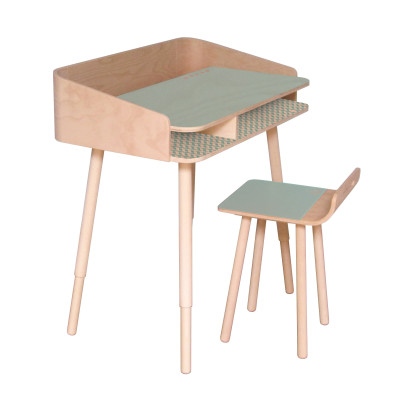 Tonton Desk & Chair Sky blue