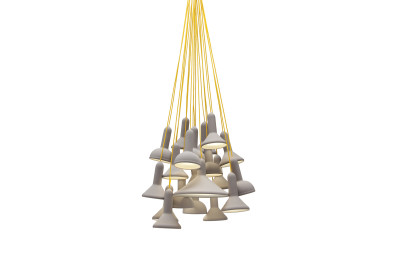 Torch Pendant Light, Bunch - S20 Black Shade with Black Cable