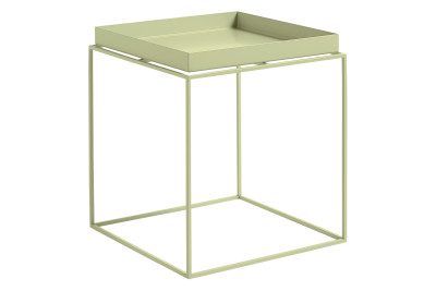 Tray Square Side Table Soft Yellow, Large