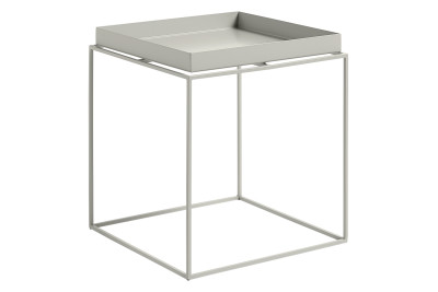 Tray Square Side Table Warm Grey, Medium