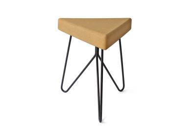 Três Stool.table - light cork, black mate legs
