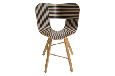 Tria Four Legged Dining Chair Black, Ivory