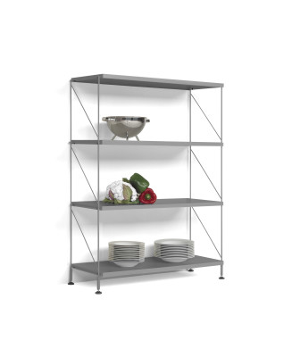 Tria Pack Floor Shelving System Grey Anthracite