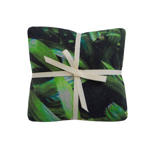 Tropical Multi Leaf & Zingy Palm Print Lavender Cushions