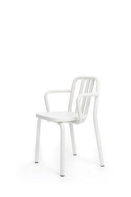 Tube Armchair White