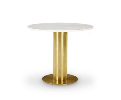Tube Table White Marble Top
