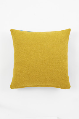 Twin Tone Cushion - Mustard Yellow