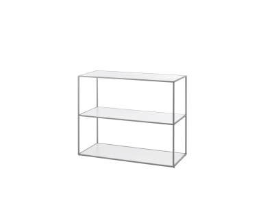 Twin Bookcase - 3 Shelves Grey