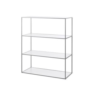 Twin Bookcase - 4 Shelves Grey