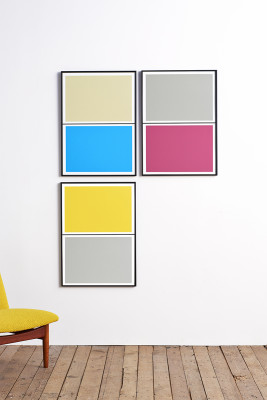 Twin Tone Play Screen Prints - Set of 3 - Ollie's Pick With Frame