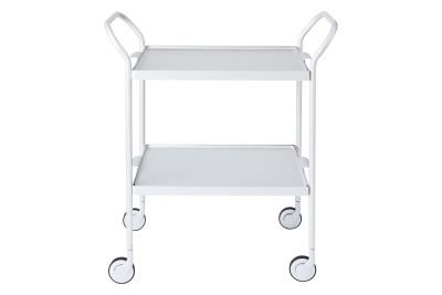 Two Tier Modern Trolley Marble