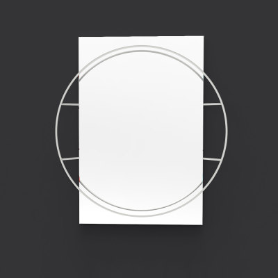 Untitled Circle Mirror Light Grey