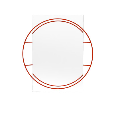 Untitled Circle Mirror Red