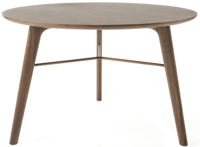 Utility Round Dining Table C1200 Smoked Stained Ash