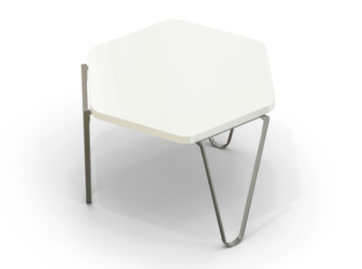 V1 Hexagonal Coffee Table White