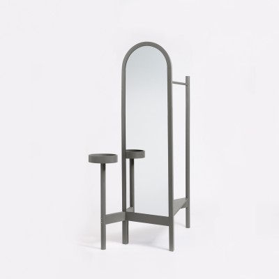 Valet Stand Stone Grey Lacquered Ash
