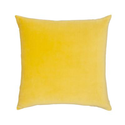 Velvet Linen Cushion Chartreuse
