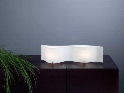 Vento VN01 Table lamp Red, Transparent Cable