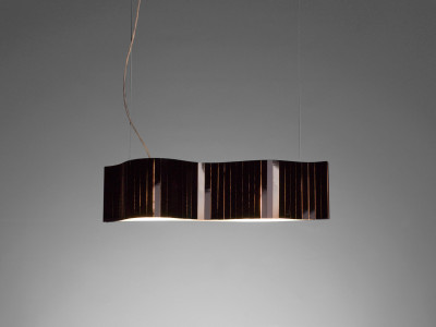 Vento VN04-1 Pendant lamp Red, Transparent Cable