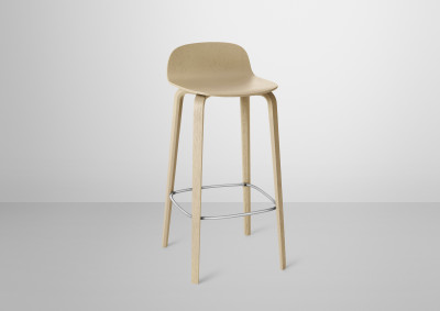 Visu Bar Stool Oak, High