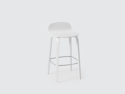Visu Bar Stool White, Low
