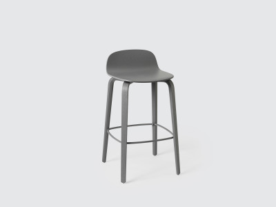 Visu Bar Stool Black, Low